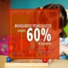 BRINQUEDOS PEDAGÓGICOS COM ATÉ 60% DE DESCONTO!