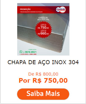 CHAPA DE AÇO INOX 304