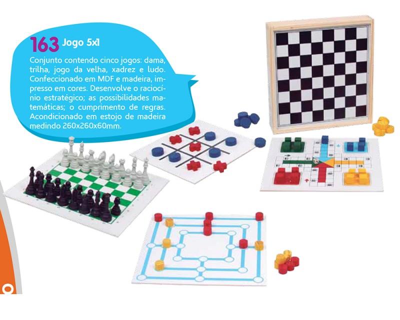Jogo 5x1 - Conjunto Contendo Cinco Jogos