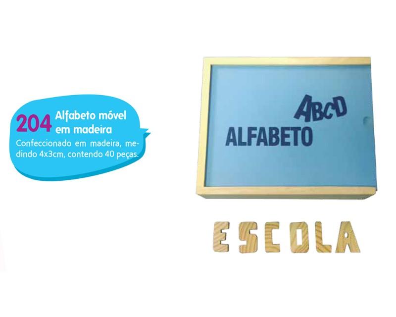 Alfabeto Móvel em Madeira