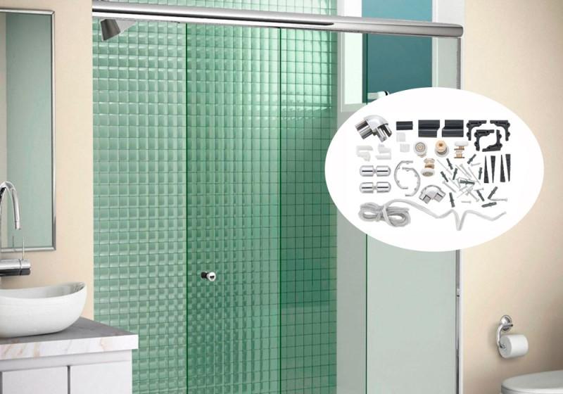 Kit de Acessórios para Box de Banheiro